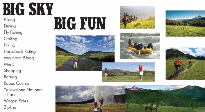 Summer family getaway at Big Sky