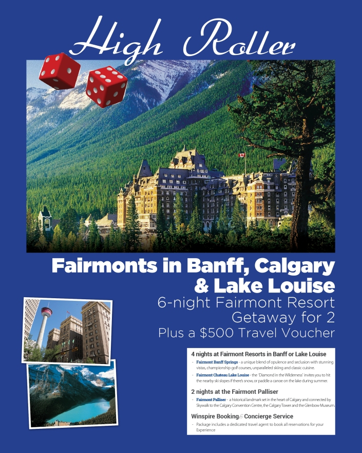 6 night getaway to Banff and Lake Louise with a $500 travel voucher!