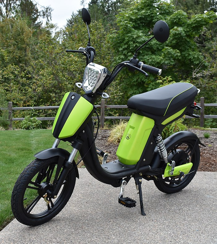 The Sparrow hybrid scoot-bike.