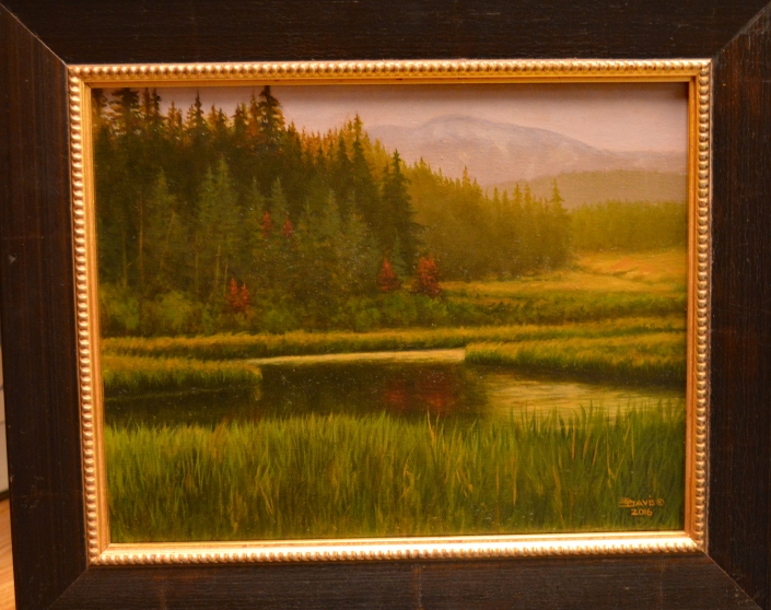 """Alaska Spring"" Original oil on canvas by Darrell Davis"
