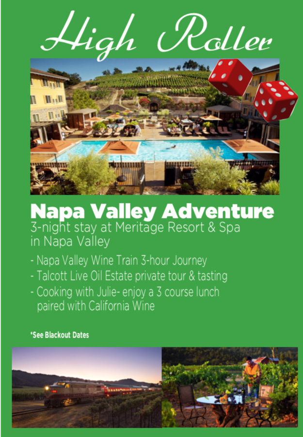 3 night stay at Meritage Resort and Spa in Napa Valley, with airfare for 2